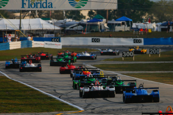 16-18 March, 2016, Sebring, Florida, USA IMSA MPL Race 2 Start ?2016, Jake Galstad LAT Photo USA