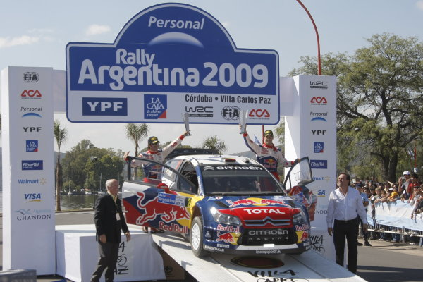 Round 05Rally Argentina 24- 27 of April 2009Marc marti, Dani Sordo, Citroen, WRC, PodiumWorldwide Copyright: McKlein/LAT