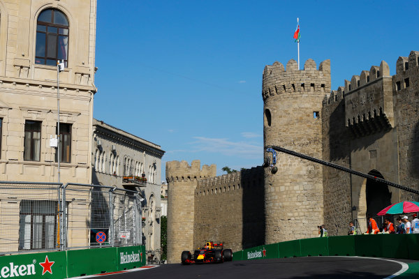 Baku City Circuit, Baku, Azerbaijan. Friday 23 June 2017. Max Verstappen, Red Bull Racing RB13 TAG Heuer.  World Copyright: Steven Tee/LAT Images ref: Digital Image _R3I2463