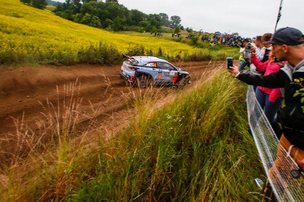 2017 FIA World Rally Championship, Round 08, Rally Poland / June 29 - July 2 2017, Hayden Paddon, Hyundai, action, Worldwide Copyright: McKlein/LAT