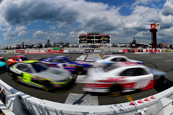 NASCAR XFINITY Series Pocono Green 250 Pocono Raceway, Long Pond, PA USA Saturday 10 June 2017 Cole Custer, Haas Automation Ford Mustang, Brad Keselowski, SKF Ford Mustang, William Byron, AXALTA / Rousseau Chevrolet Camaro, and Elliott Sadler, Dale's Pale Ale Chevrolet Camaro. World Copyright: Rusty Jarrett LAT Images ref: Digital Image 17POC1rj_3187