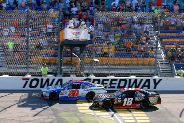 NASCAR XFINITY Series U.S. Cellular 250 Iowa Speedway, Newton, IA USA Saturday 29 July 2017 Ryan Preece, MoHawk Northeast Inc. Toyota Camrydrives under the checkered flag to win World Copyright: Russell LaBounty LAT Images