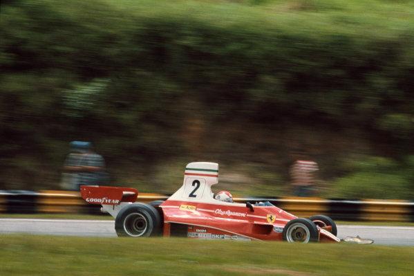 Interlagos, Sao Paulo, Brazil. 23-25 January 1976. Clay Regazzoni, Ferrari 312T. Ref: 76BRA02. World Copyright - LAT Photographic