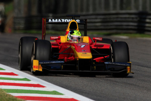 2013 GP2 Series. Round 9.  Autodromo di Monza, Monza, Italy. 6th September.  Friday Qualifying.  Julian Leal (COL, Racing Engineering). Action.  World Copyright: Charles Coates/GP2 Media Service. ref: Digital Image _X5J6549.jpg