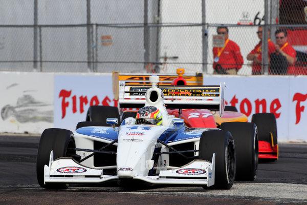 23-24 March, 2012, St Petersburg, Florida USAEsteban Guerrieri leads Sebastian Saavedra.(c)2012, Phillip AbbottLAT Photo USA