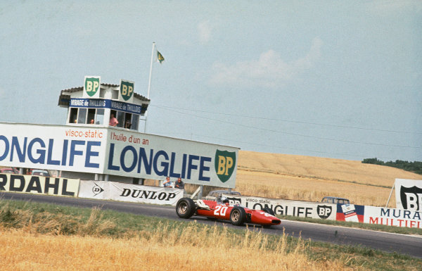 Reims, France. 1-3 July 1966.  Lorenzo Bandini, Ferrari 312.  Ref: 66FRA08. World Copyright: LAT Photographic
