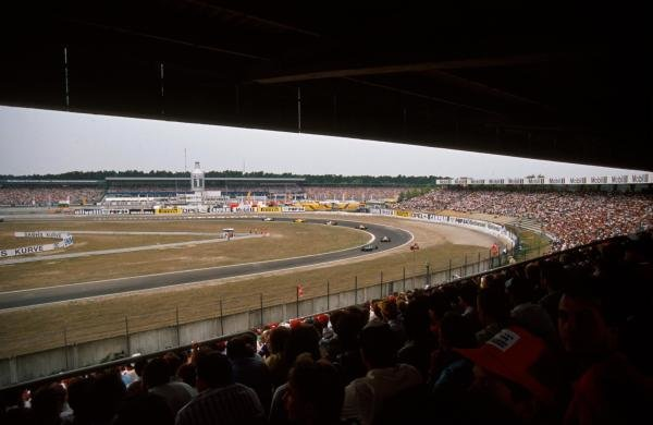 The view from the grandstand. German Grand Prix, Hockenheim, 30 July 1989