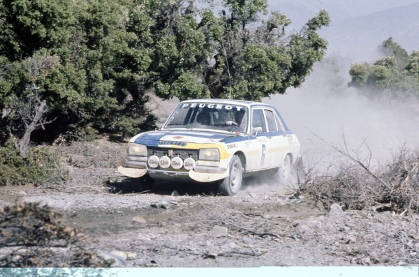1975 World Rally Championship. Morocco Rally, Morocco. 24-28 June 1975 Hannu Mikkola/Jean Todt (Peugeot 504), 1st position World Copyright: LAT PhotographicRef: 35mm transparency 75RALLY05