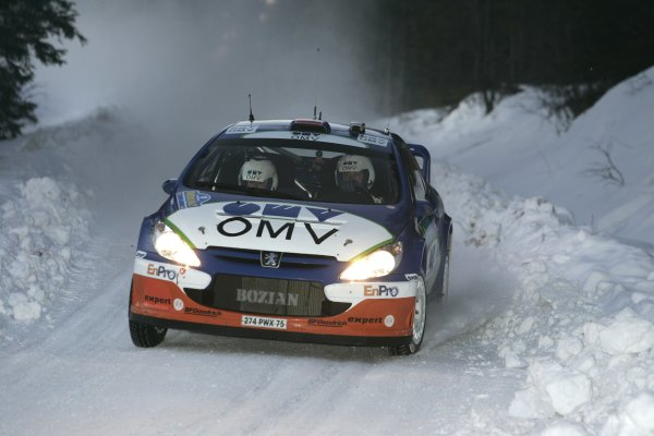 2006 FIA World Rally Champs. Round two Swedish Rally.2nd-5th February 2006.Manfred Stohl, Peugeot, action.World Copyright: McKlein/LAT