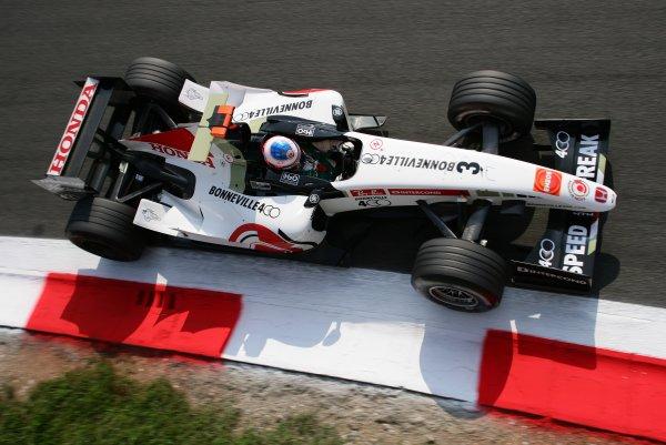 2005 Italian Grand Prix - Saturday Qualifying, Monza, Italy. 3rd September 2005 Jenson Button, BAR Honda 007, action.World Copyright: Steve Etherington/LAT Photographic ref: 48mb Hi Res Digital Image