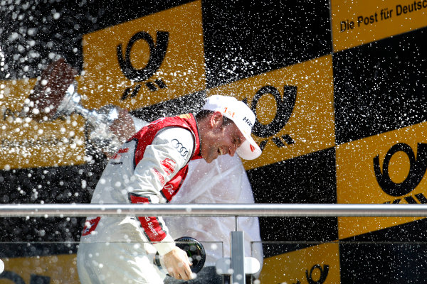 2017 DTM Round 2 Lausitzring, Germany. Sunday 21 May 2017. Podium: Jamie Green, Audi Sport Team Rosberg, Audi RS 5 DTM World Copyright: Alexander Trienitz/LAT Images ref: Digital Image 2017-DTM-R2-ESL-AT1-4738