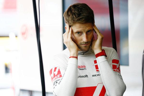 Circuit de Catalunya, Barcelona, Spain. Saturday 13 May 2017. Romain Grosjean, Haas F1. World Copyright: Andy Hone/LAT Images ref: Digital Image _ONZ4794