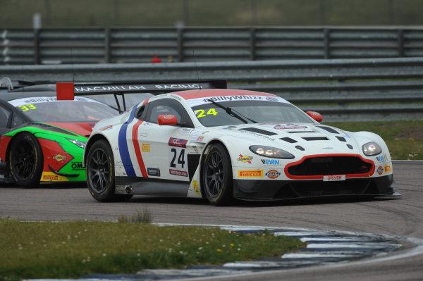 2017 British GT Championship Rockingham, England. 29th-30th April 2017, Jack Mitchell / James Littlejohn Macmillan AMR Aston Martin Vantage GT3  World copyright. JEP/LAT Images