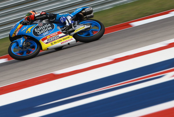 2017 Moto3 Championship - Round 3 Circuit of the Americas, Austin, Texas, USA Friday 21 April 2017 Aron Canet, Estrella Galicia 0,0 World Copyright: Gold and Goose Photography/LAT Images ref: Digital Image Moto3-500-1512