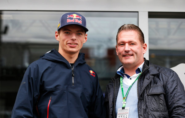 Spa-Francorchamps, Spa, Belgium. Thursday 21 August 2014. Max Verstappen, Toro Rosso, and father Jos Verstappen. World Copyright: Steven Tee/LAT Photographic. ref: Digital Image _L4R0815
