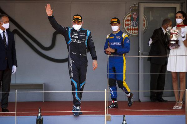 Roy Nissany (ISR, DAMS) celebrates on the podium