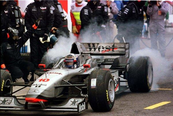 1997 San Marino Grand Prix.Imola, Italy.25-27 April 1997.David Coulthard (McLaren MP4/12 Mercedes-Benz).World Copyright - LAT Photographic