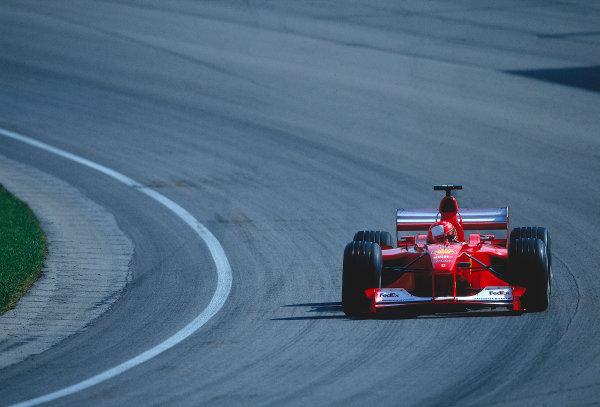 2000 United States Grand Prix.Indianapolis, Indiana, USA. 22-24 September 2000.Michael Schumacher (Ferrari F1-2000) 1st position.Ref-2K USA 63.World Copyright - LAT Photographic