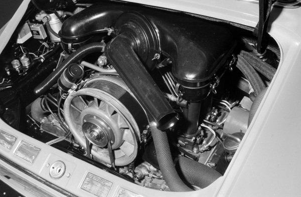 Porsche 911 horizontally opposed six cylinder engine.