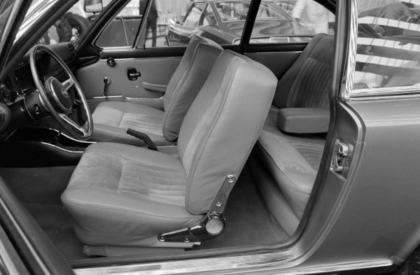 The BMW 2800 GTS coupe concept interior.