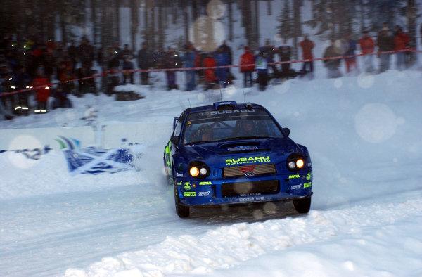 2002 World Rally ChampionshipUddeholm Swedish Rally, 1st-3rd February 2002.Tommi Makinen on stage 1.Photo: Ralph Hardwick/LAT