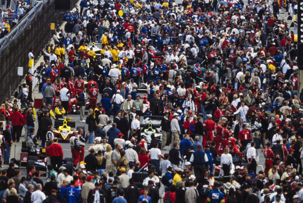 Swarms of people on the grid.