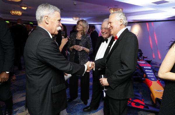 Chase Carey, Chairman, Formula 1, with Lord Peter Hain