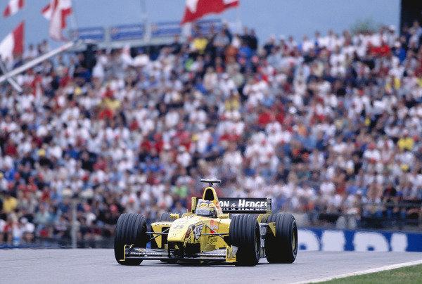 1999 Austrian Grand Prix.A1-Ring, Zeltweg, Austria. 23-25 July 1999.Heinz-Harald (Jordan 199 Mugen Honda) 4th position.Ref-99 AUT 84.World Copyright - Gavin Lawrence/LAT Photographic