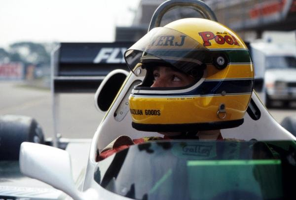 Ayrton Senna (BRA) was to test the Williams FW08C for the first time. Formula One Testing, Donington Park, England, 19 July 1983.