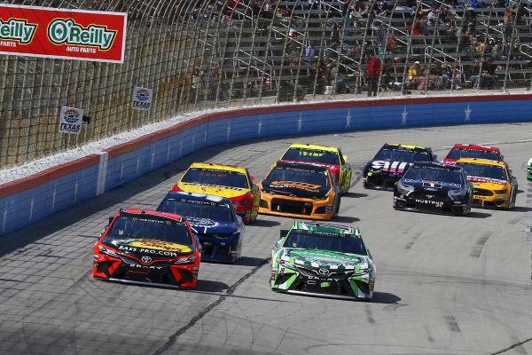 #19: Martin Truex Jr., Joe Gibbs Racing, Toyota Camry Bass Pro Shops and #18: Kyle Busch, Joe Gibbs Racing, Toyota Camry Interstate Batteries