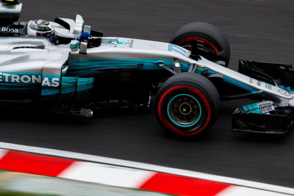 Suzuka Circuit, Japan. Friday 06 October 2017. Valtteri Bottas, Mercedes F1 W08 EQ Power+. World Copyright: Glenn Dunbar/LAT Images  ref: Digital Image _X4I5464