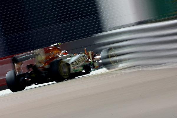 Marina Bay Circuit, Singapore21st September 2012Nico Hulkenberg, Force India VJM05 Mercedes. World Copyright: Andy Hone/LAT Photographicref: Digital Image HONZ2432