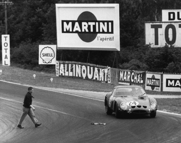 Le Mans, France. 15th - 16th June 1963 Jean Beurlys/Gerard Langlois (Ferrari 250 GTO), 2nd position, action. World Copyright: LAT Photographic Ref:  B/WPRINT.