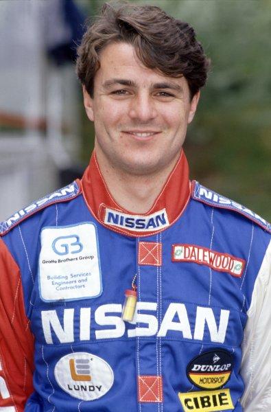 1990 Le Mans 24 Hours. Le Mans, France. 20th - 21st June 1990. Mark Blundell  (Nissan R90K) retired, portrait. World Copyright: LAT Photographic. ref: 90LM08.
