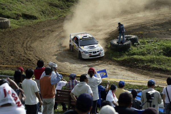 2006 FIA World Rally Champs. Round 6Rally Japan. 1st-3rd September 2006Latvala, Subaru, actionWorld Copyright: McKlein/LAT