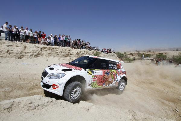 Round 04 Rally Jordan. 14th-16th April 2011.Karl Kruuda, Skoda SWRC, Action.Worldwide Copyright: McKlein/LAT