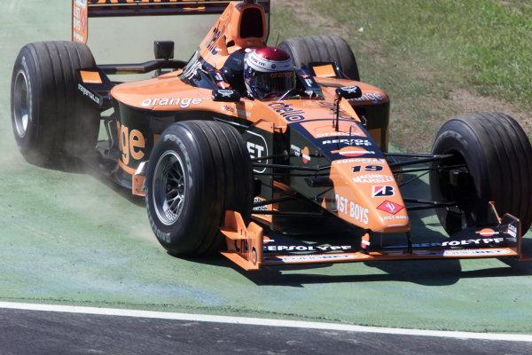 Monza, Italy. 8-10 September 2000.Jos Verstappen (Arrows A21 Supertec) 4th position.World Copyright - LAT Photographic