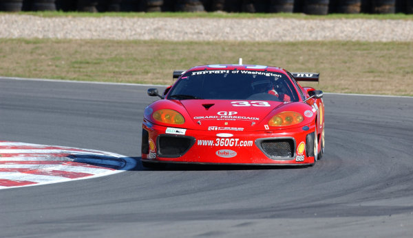 2002 Mont- Tremblant 6hr. Grand Am, Tremblant, CanadaSeptember 2002Cort Wagner gets a slight lift of his inside tire in the Ferrari 360 GT.C:2002, Douglas Phillips, USALAT Photographic