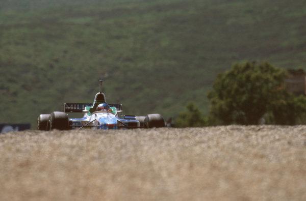 Estoril, Portugal.20-22 September 1996.Jean Alesi (Benetton B196 Renault) 4th position.Ref-96 POR 13.World Copyright - LAT Photographic