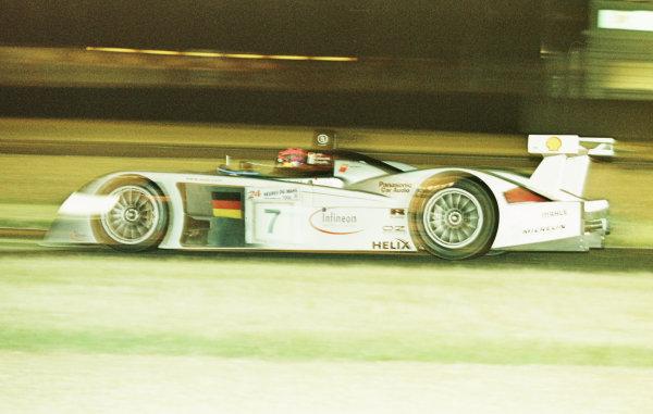 2000 Le Mans 24 Hours.Le Mans, France.17-18 June 2000.Christian Abt/Michele Alboreto/Rinaldo Capello (Audi R8), 3rd position.World - LAT Photographic