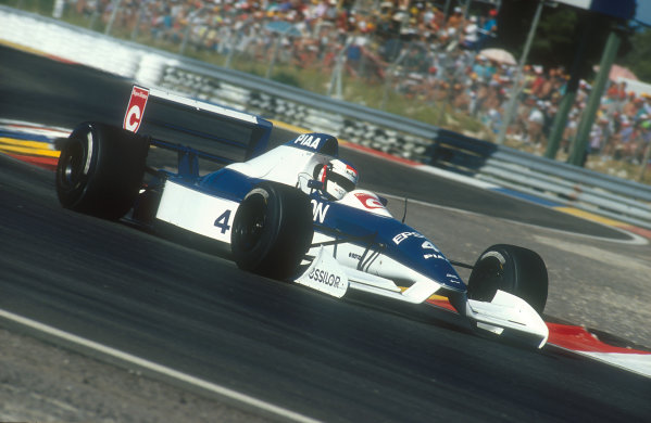 1990 French Grand Prix.Paul Ricard, Le Castellet, France.6-8 July 1990.Jean Alesi (Tyrrell 019 Ford). He exited the race with a differential failure.Ref-90 FRA 19.World Copyright - LAT Photographic
