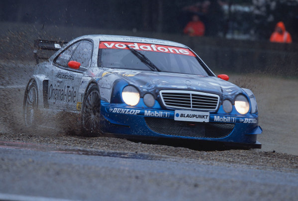 2002 DTM Championship, Zolder, Belgium. Rd 2, 4th-5th May 2002.Peter Dumbreck heads across the gravel as the wet weather makes driving hazardous.World Copyright: Lawrence/LAT Photographic