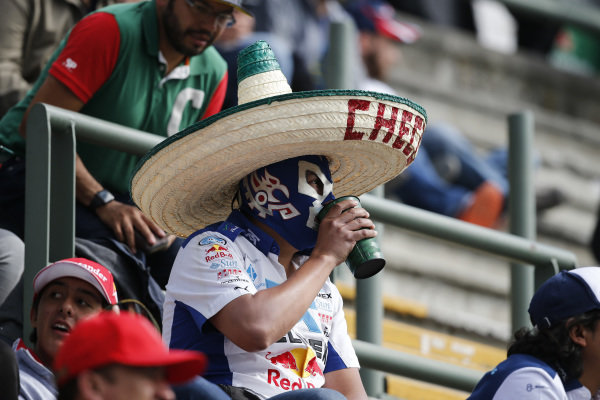 Fans at Formula One World Championship, Rd19, Mexican Grand Prix, Race, Circuit Hermanos Rodriguez, Mexico City, Mexico, Sunday 30 October 2016.