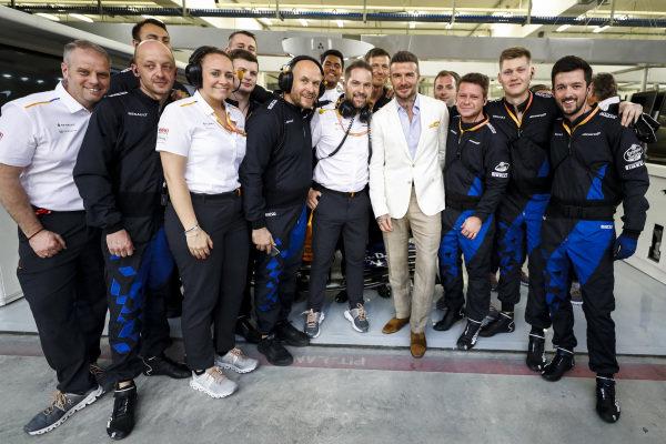 David Beckham with McLaren Team