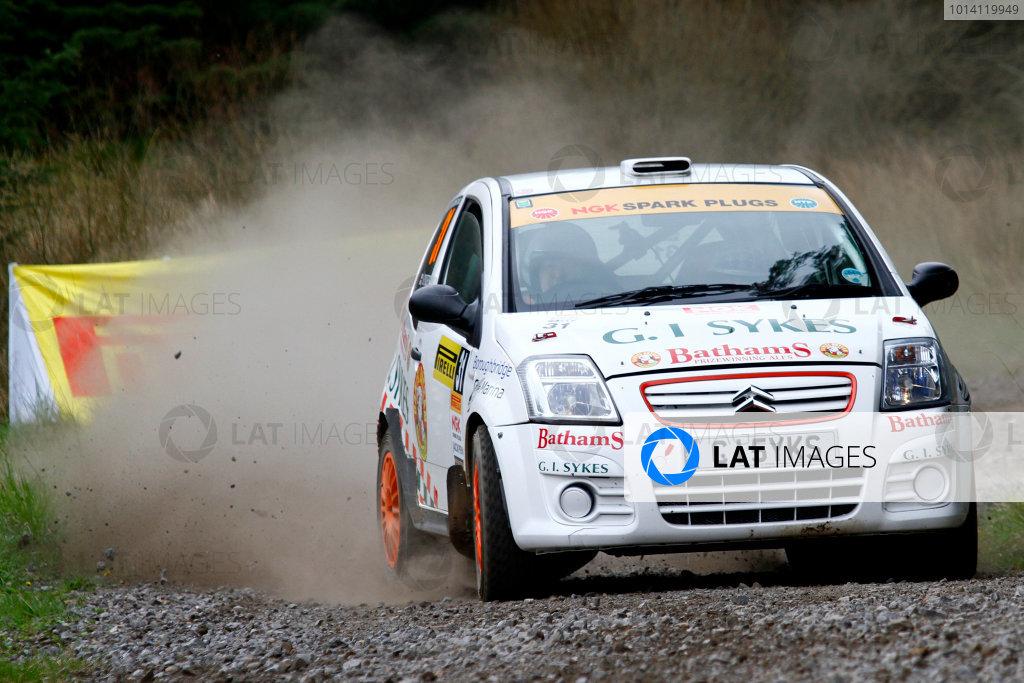 2014 MSA British Rally Championship, Pirelli Carlisle R B Foundation Rally. 3rd - 4th May 2014. Richard Sykes / Emma Morrison Citroen C2R2. World Copyright: Ebrey / LAT Photographic.