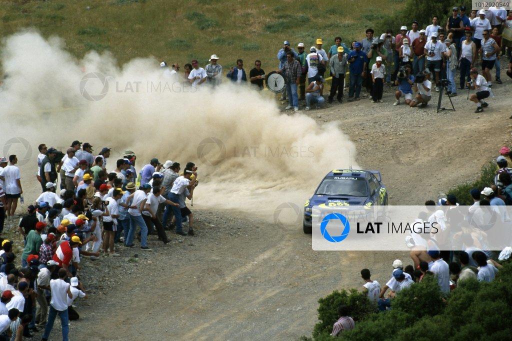 1997 World Rally Championship.New Zealand Rally, New Zealand. 2-5 August 1997.Kenneth Eriksson/Staffan Parmander (Subaru Impreza 555), 1st position.World Copyright: LAT PhotographicRef: 35mm transparency 97RALLY06