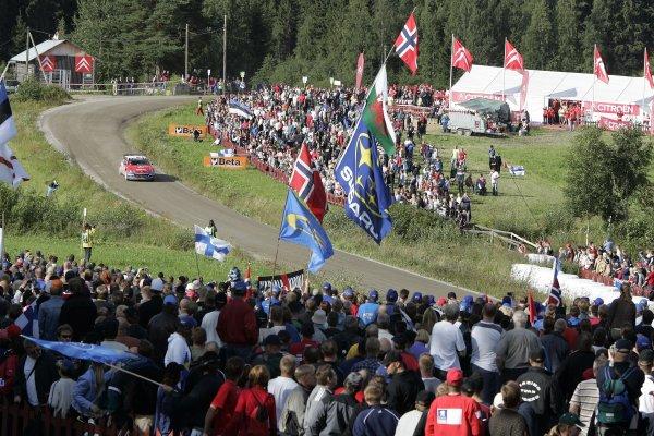 2005 FIA World Rally Champs. Round ten Rally Finland.4th - 7th August 2005.Sebastien Loeb, Citroen, action.World Copyright: McKlein/LAT
