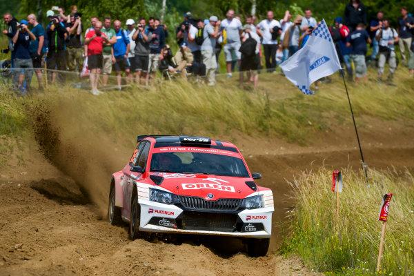 2017 FIA World Rally Championship, Round 08, Rally Poland / June 29 - July 2 2017, Hubert Ptaszek, Skoda, action, Worldwide Copyright: McKlein/LAT