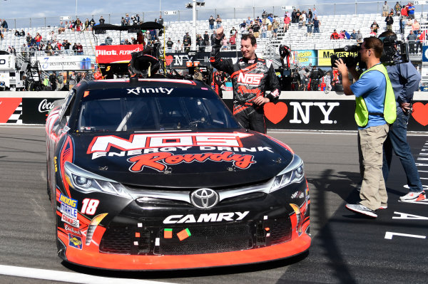 NASCAR XFINITY Series Zippo 200 at The Glen Watkins Glen International, Watkins Glen, NY USA Saturday 5 August 2017 Kyle Busch, NOS Rowdy Toyota Camry, celebrates after winning the Zippo 200. World Copyright: John K Harrelson LAT Images