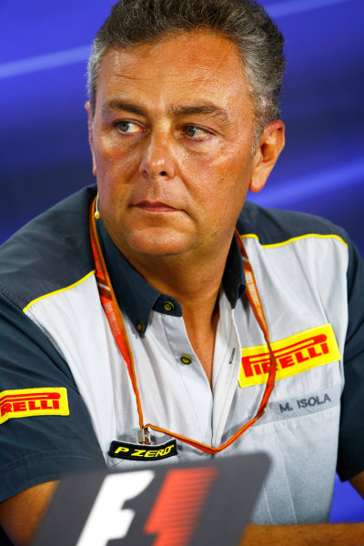Yas Marina Circuit, Abu Dhabi, United Arab Emirates. Friday 24 November 2017. Mario Isola, Racing Manager, Pirelli Motorsport. World Copyright: Andy Hone/LAT Images  ref: Digital Image _ONY0904